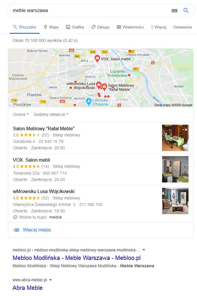 Google Moja Firma przykład