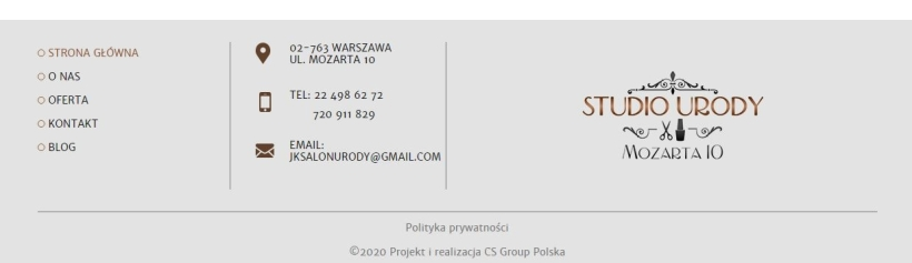 Studio Urody - stopka