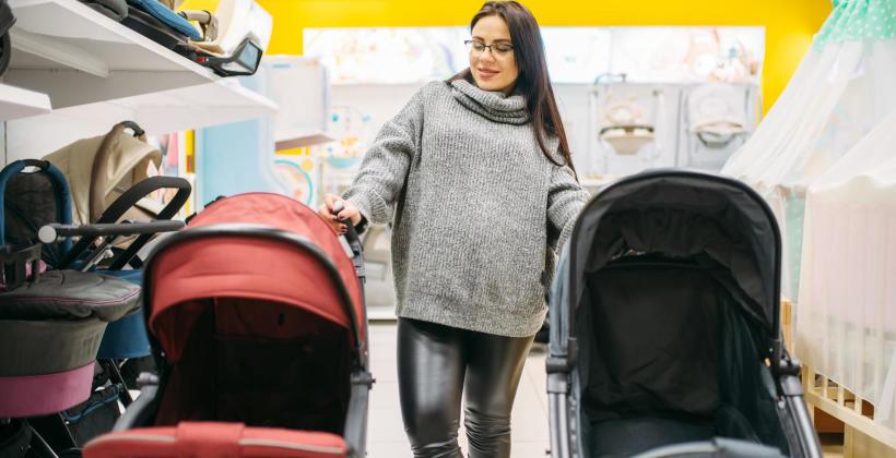 Wygodny wózek dla niemowlaka