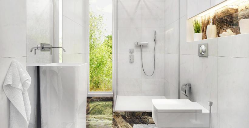 Aranżacja małej łazienki - prysznic czy wanna?