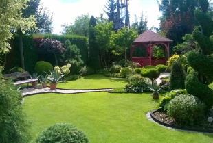 Starannie zaaranżowana przestrzeń ogrodowa